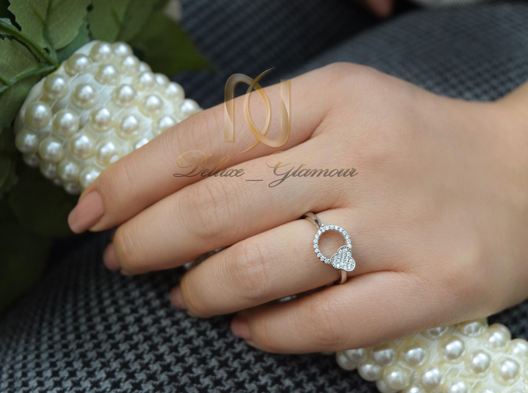 انگشتر نقره دخترانه طرح گل rg-n349