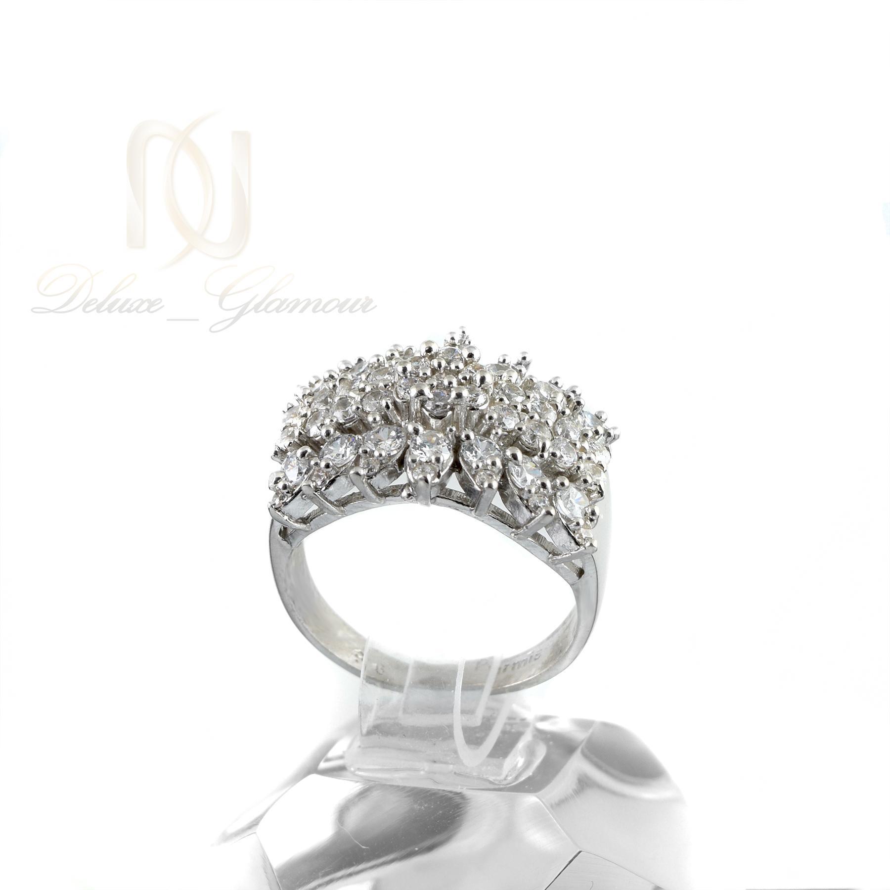انگشتر نقره زنانه پرنگين rg-n340 از نماي روبرو