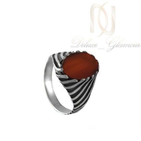 انگشتر نقره مردانه نگين عقيق ترك RG-N253 از نماي كنار