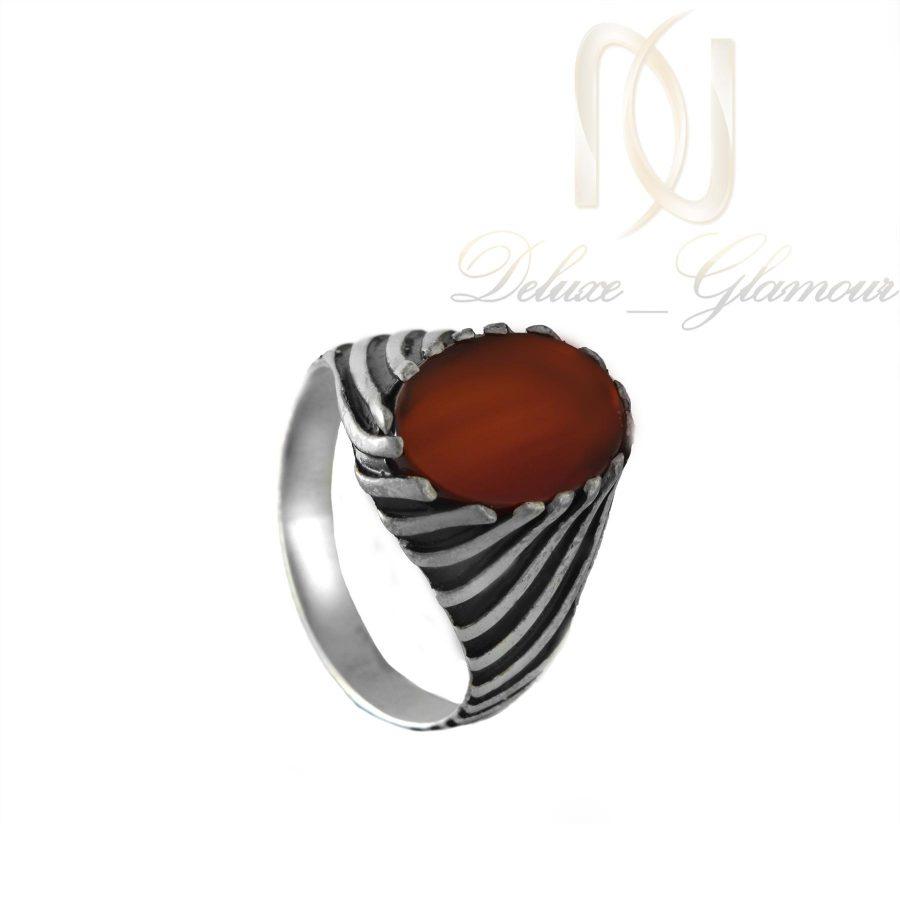 انگشتر نقره مردانه نگين عقيق ترك RG-N253