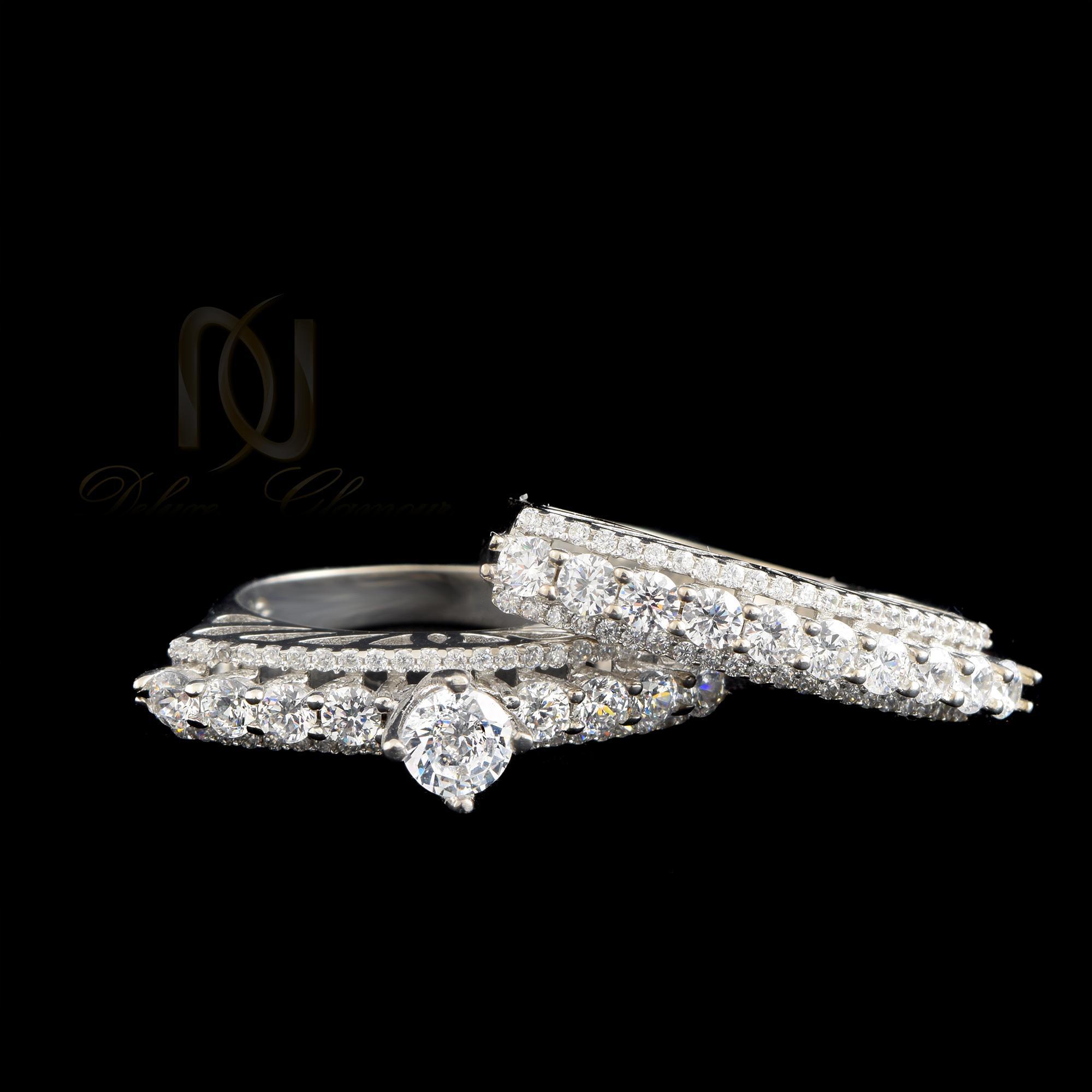 حلقه و پشت حلقه نقره دخترانه rg-n345