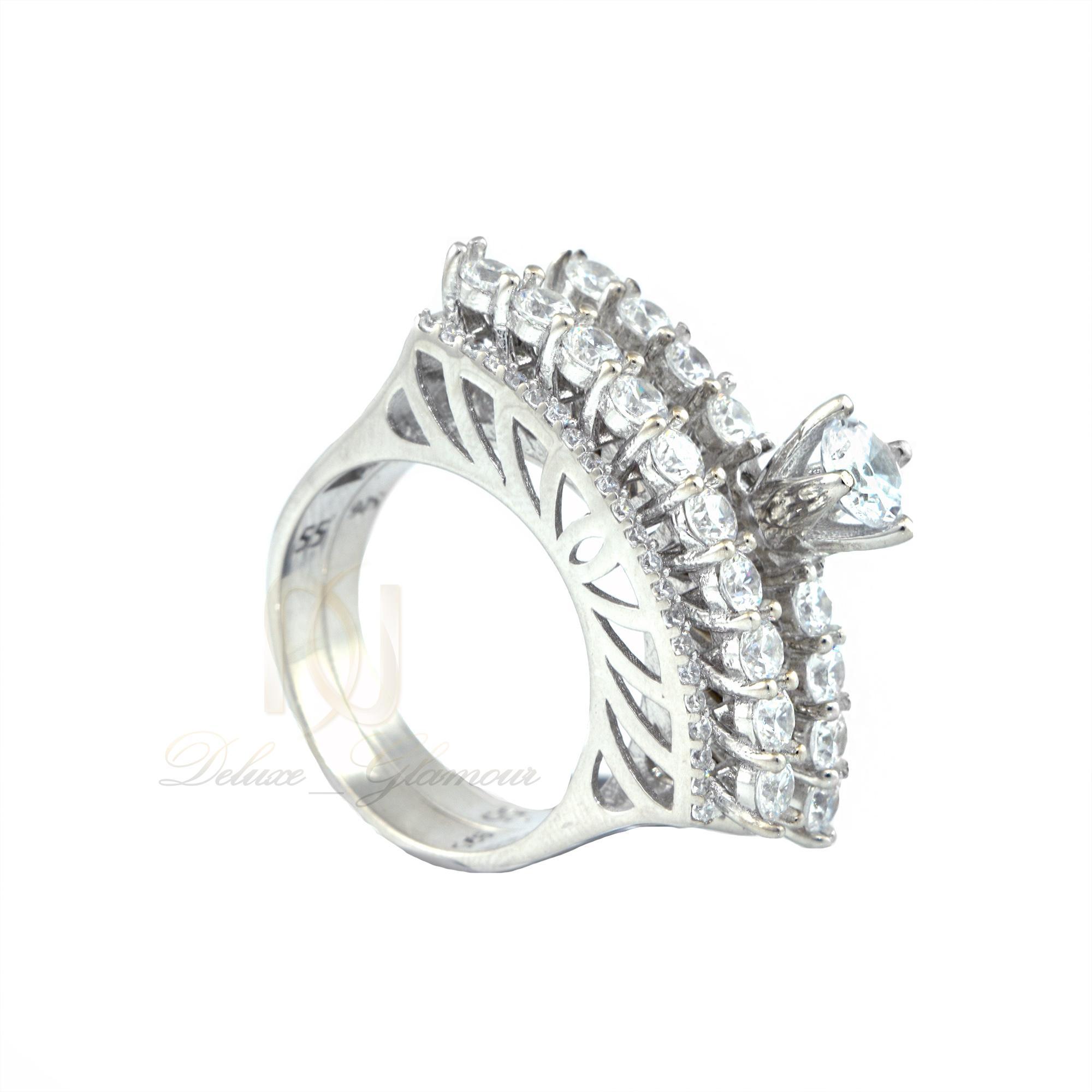 حلقه و پشت حلقه نقره دخترانه rg-n345 از نماي كنار
