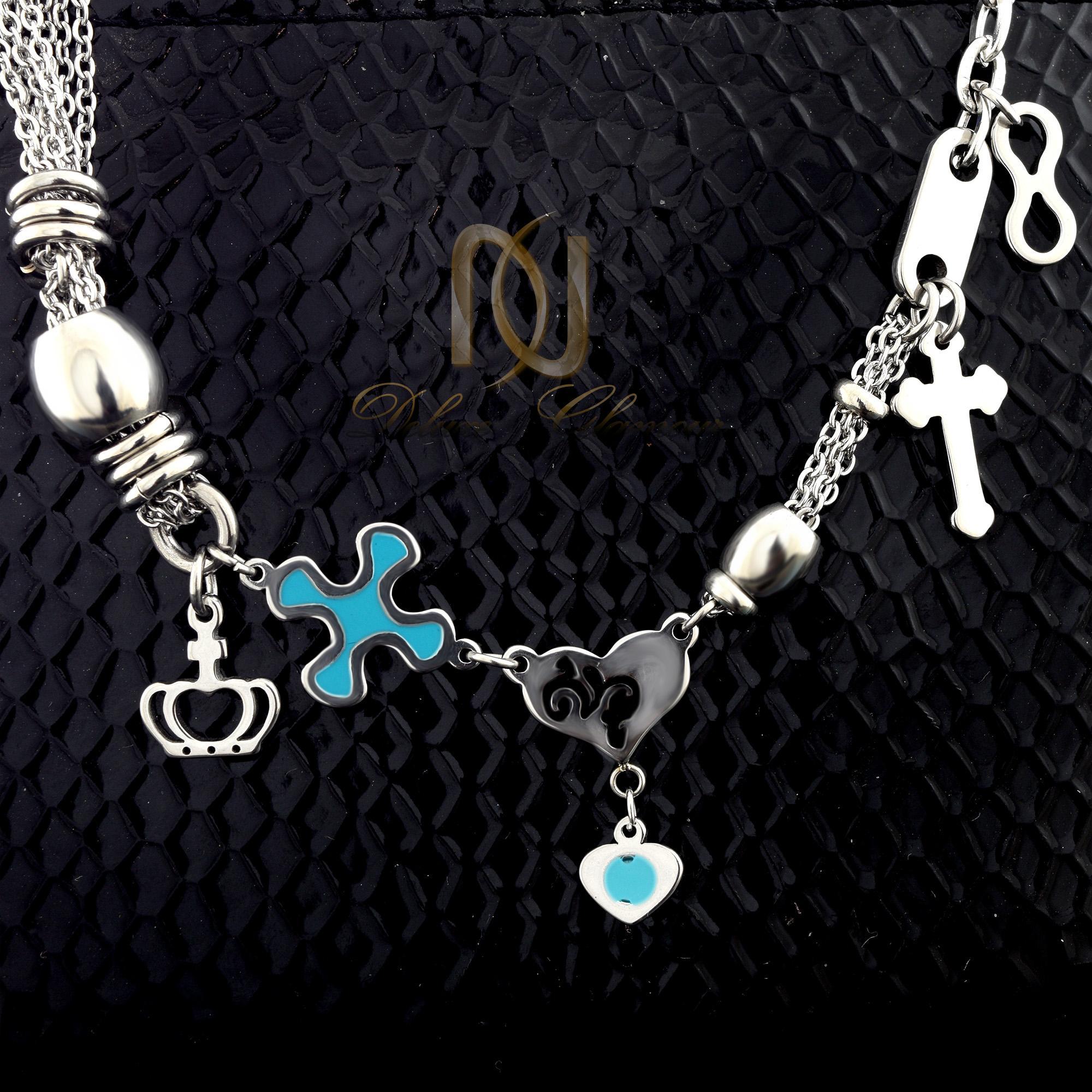 دستبند دخترانه آویزدار طرح چشم نظر ds-n320