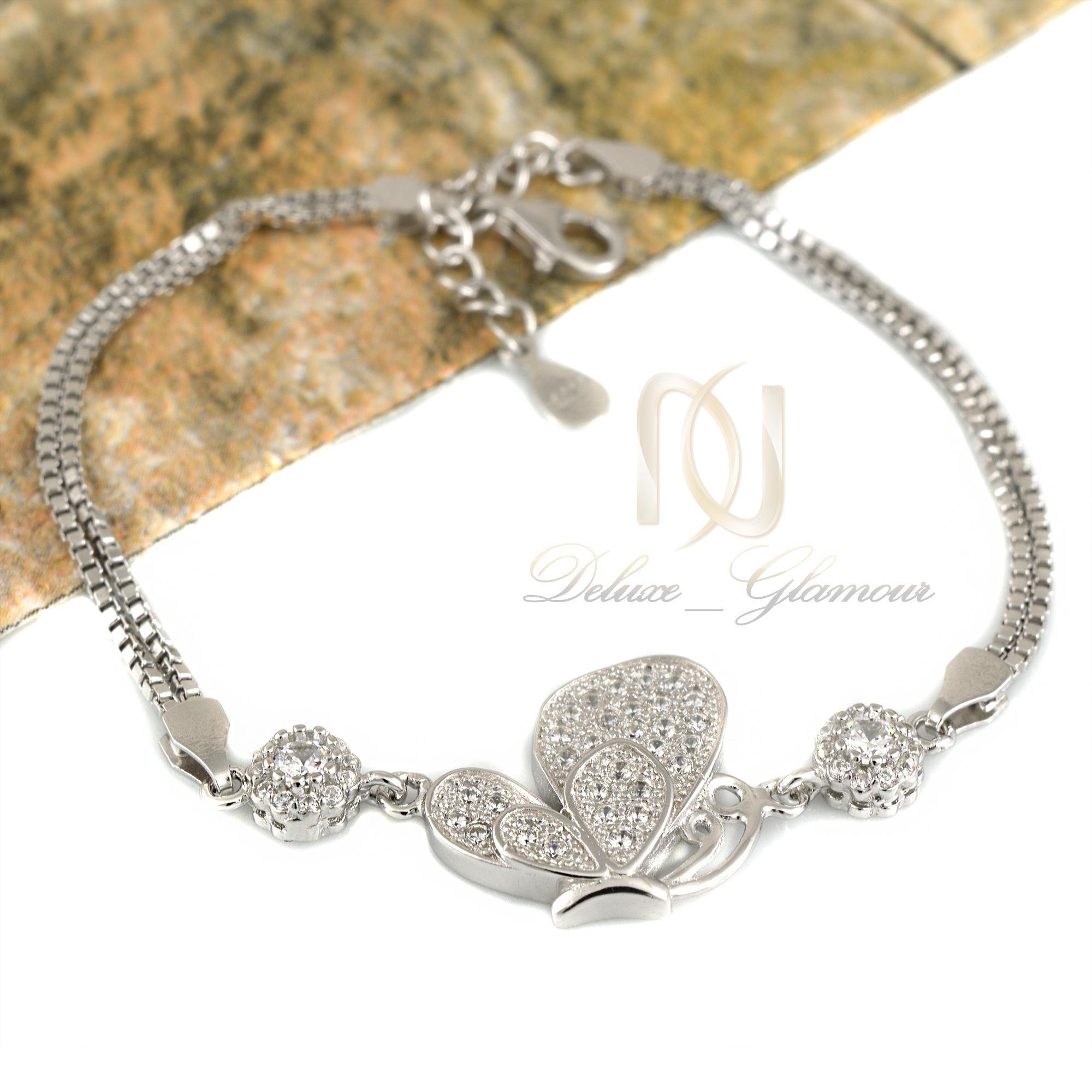 دستبند دخترانه نقره طرح پروانه ds-n334