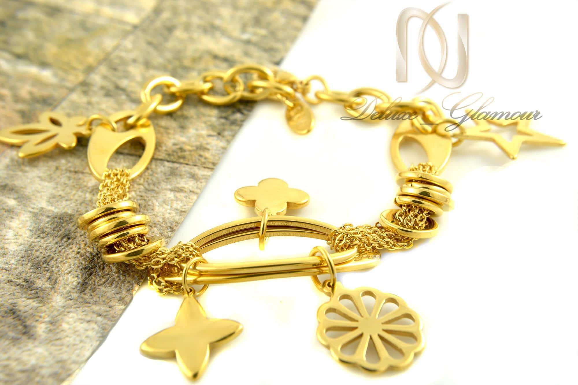 دستبند زنانه استیل طرح طلا ds-n323