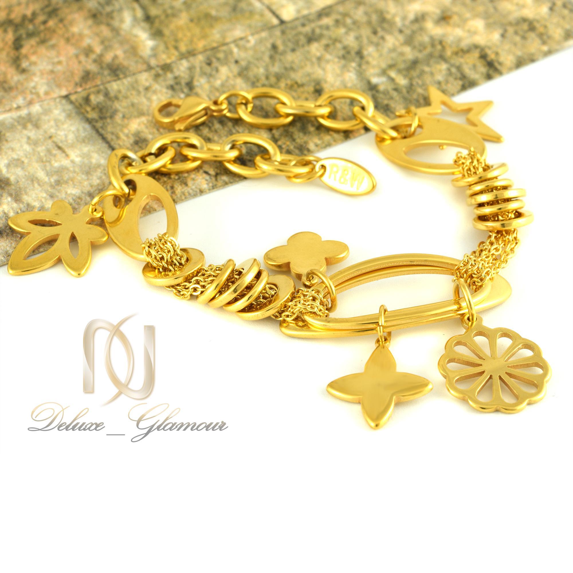 دستبند زنانه استیل طرح طلا ds-n323 از نمای دور