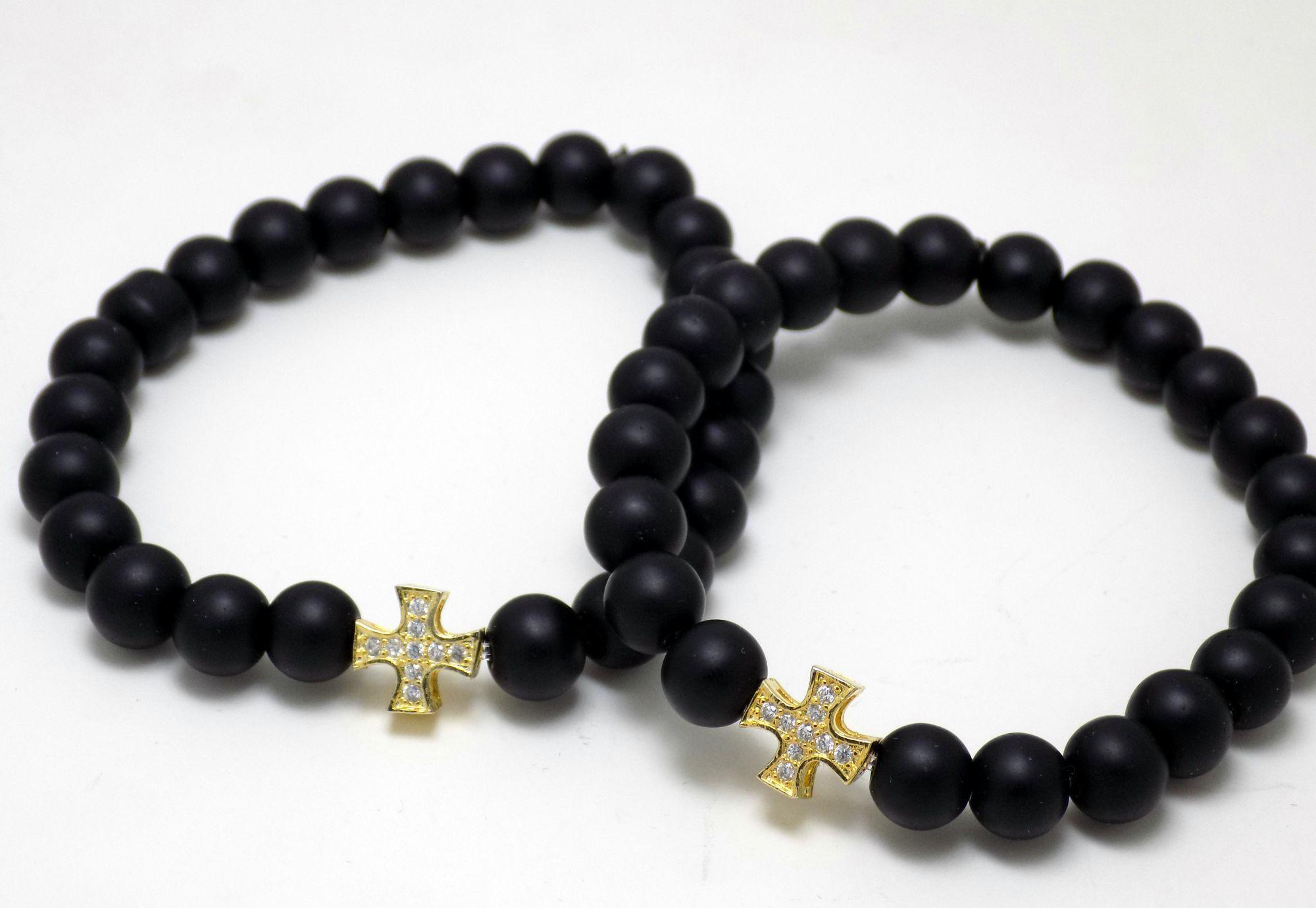 دستبند ست دخترانه و پسرانه سنگی ds-n325