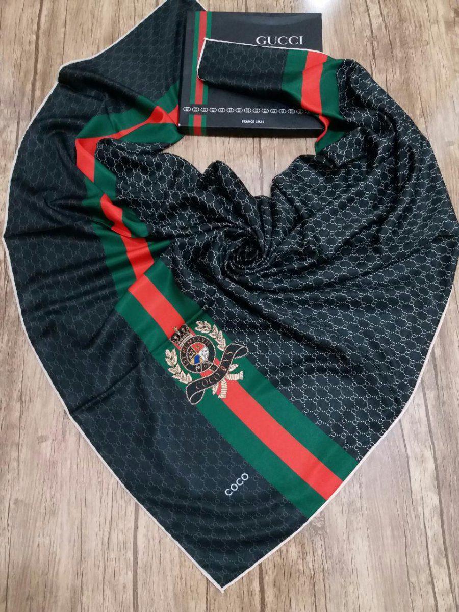 روسری ابریشم کجراه کنار دست دوز sr-n184