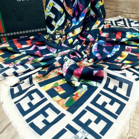 روسری نخی پاییزه پایین ریشه سوزنی sr-n194 از نمای پایین