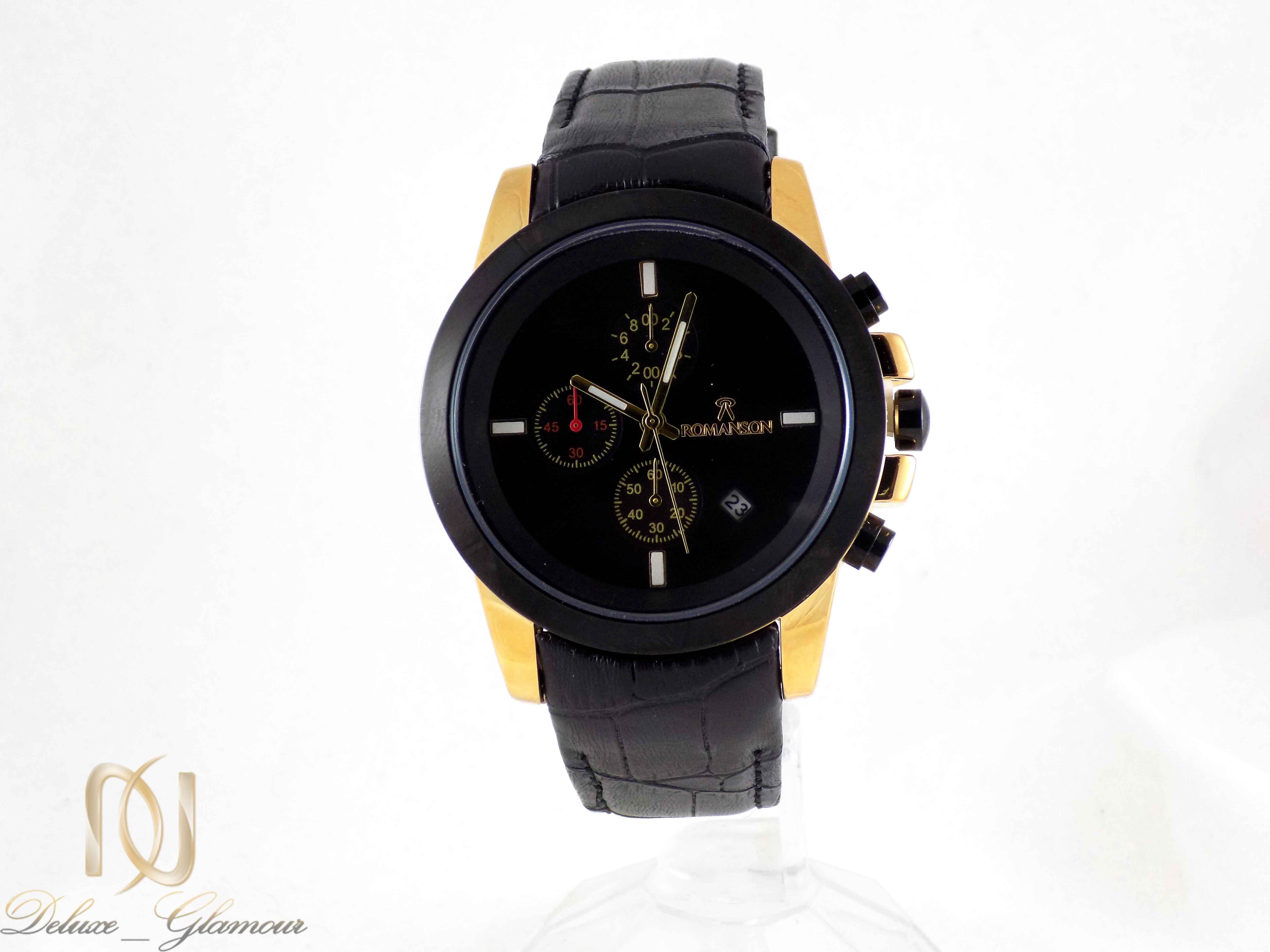 ساعت مردانه سه موتوره مشکی رومانسون wh-n118 از نمای روبرو