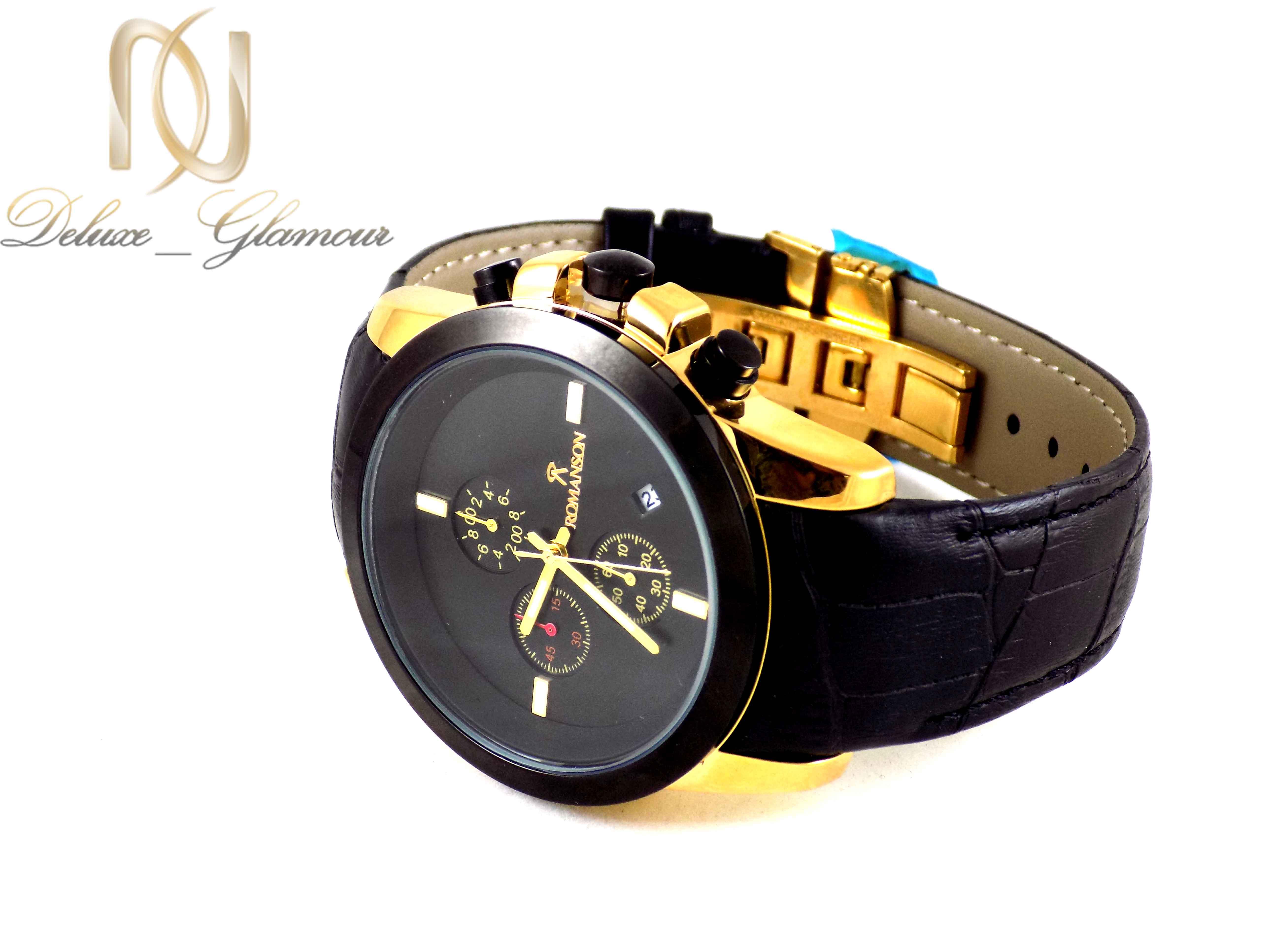 ساعت مردانه سه موتوره مشکی رومانسون wh-n118 از نمای کنار