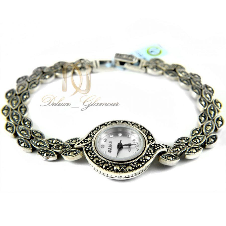 ساعت نقره زنانه طرح سیاه قلم WH-N119 از نمای سفید
