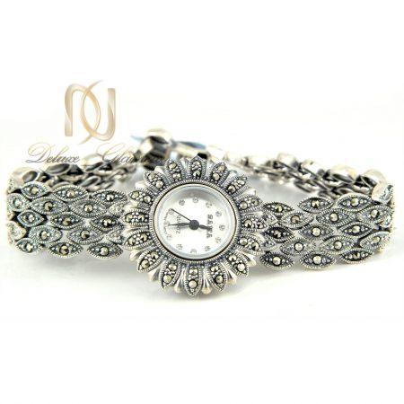 ساعت نقره زنانه طرح مارکازیت wh-n116 از نمای سفید