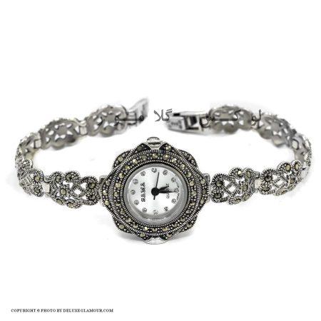 ساعت نقره زنانه ظریف سیاه قلم wh-n121 اصل