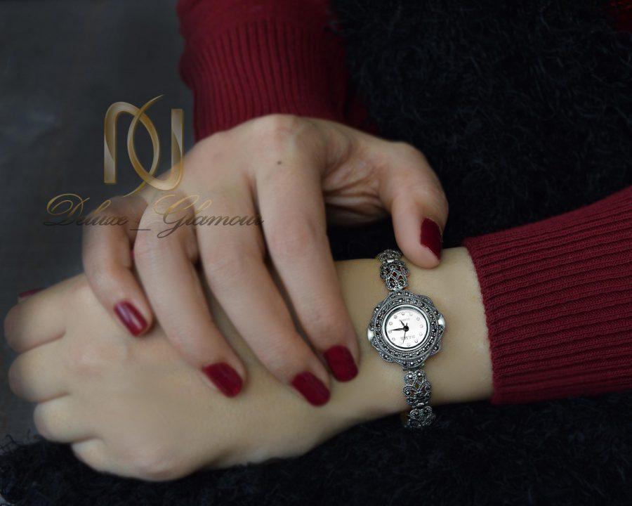 ساعت نقره زنانه ظریف سیاه قلم wh-n121