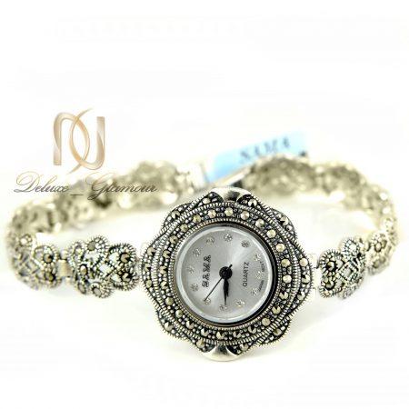 ساعت نقره زنانه ظریف سیاه قلم wh-n121 از نمای سفید