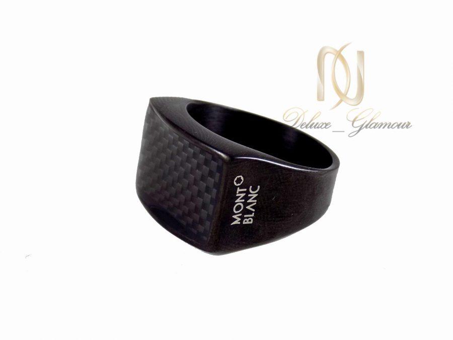ست انگشتر و دستبند مردانه مشکی ns-n245 از نمای پایین