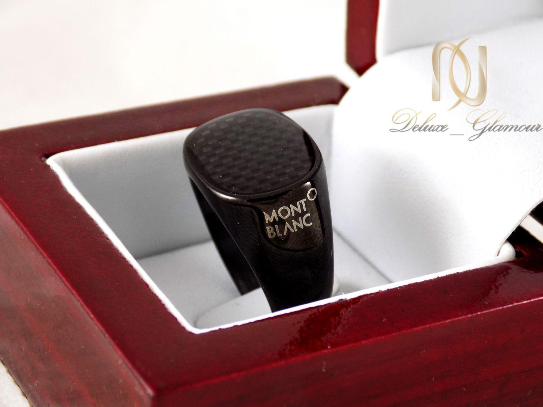 ست دستبند و انگشتر مردانه مشکی ns-n244 از نمای نزدیک