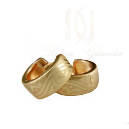 گوشواره حلقه ای ژوپینگ طرح طلا er-n160 از نمای سفید