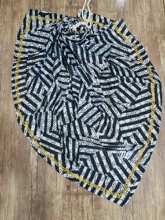 روسری نخی پاییزه دست دوز sr-n190 از نمای