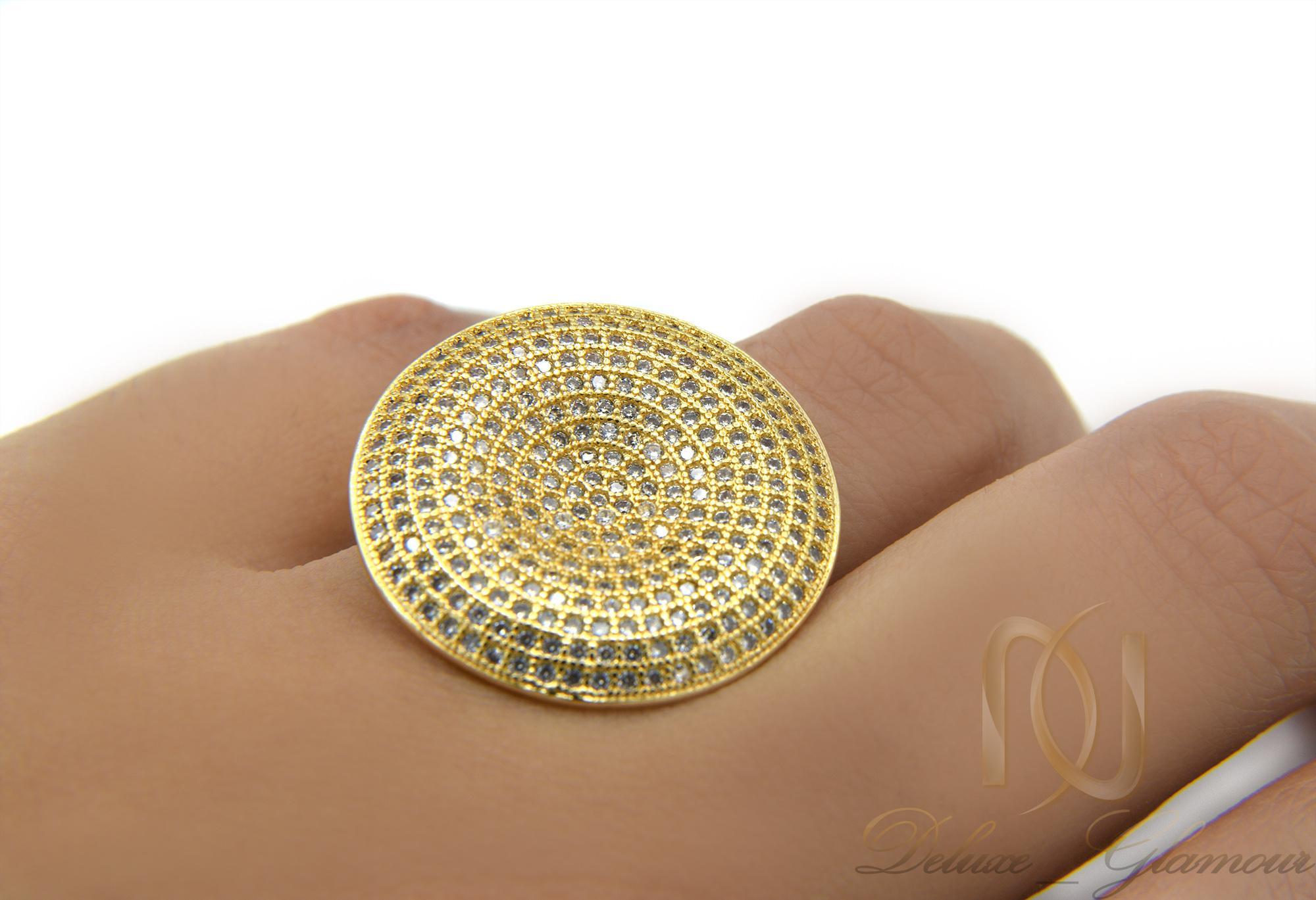 انگشتر زنانه استیل پهن طرح طلا rg-n280 از نمای روی دست
