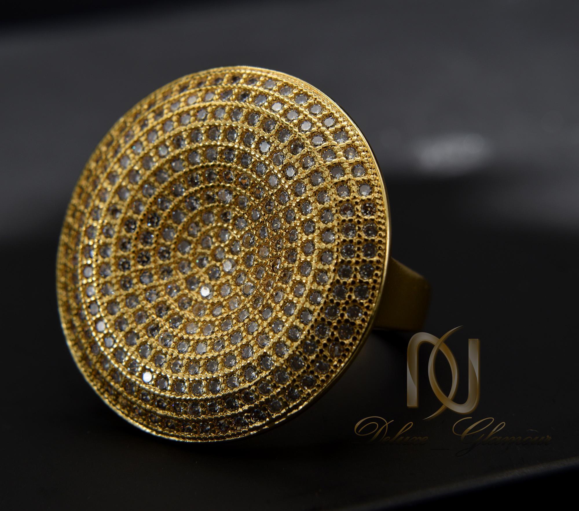 انگشتر زنانه استیل پهن طرح طلا rg-n280 از نمای نزدیک