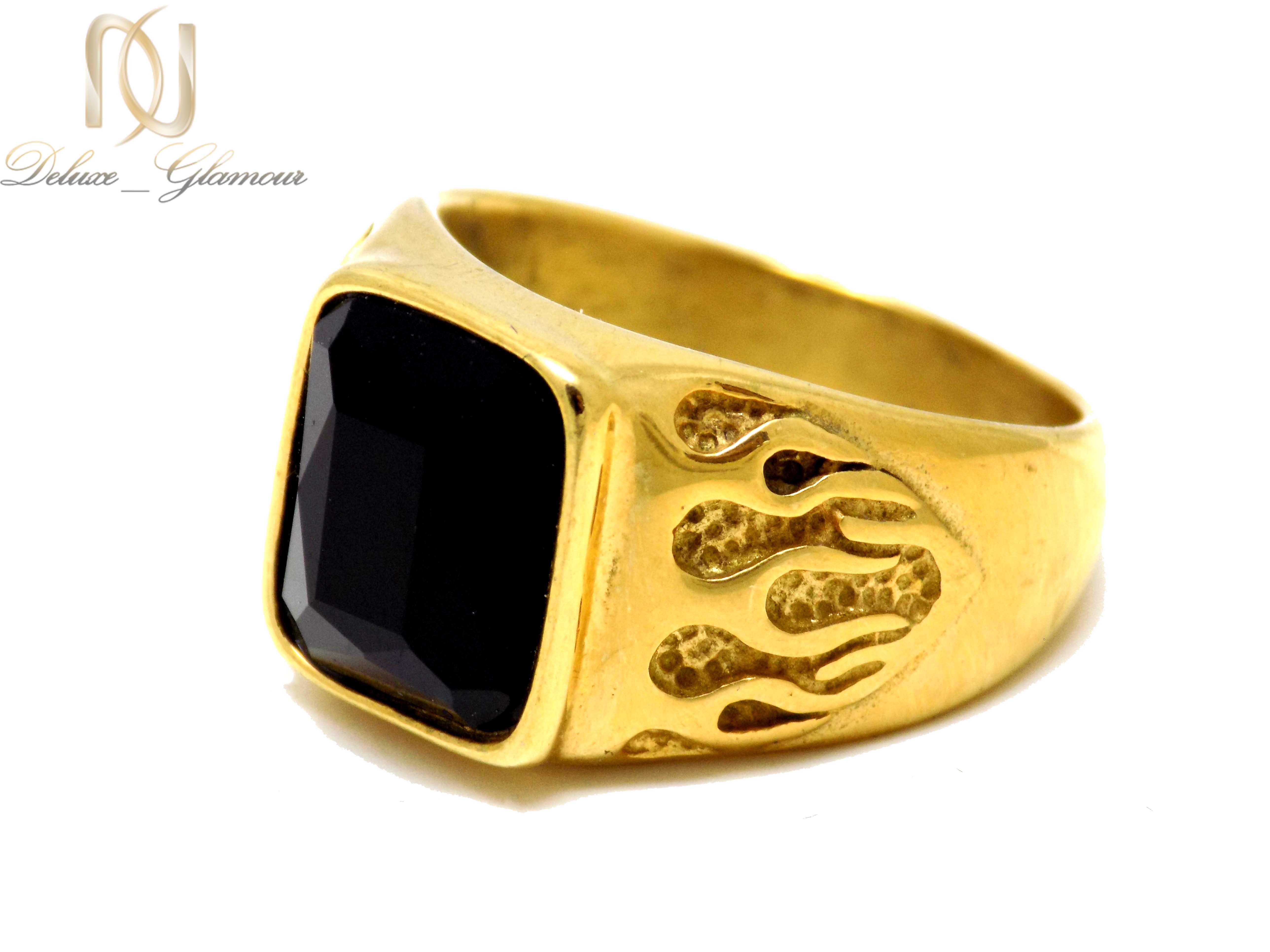 انگشتر مردانه استیل طلایی rg-n274