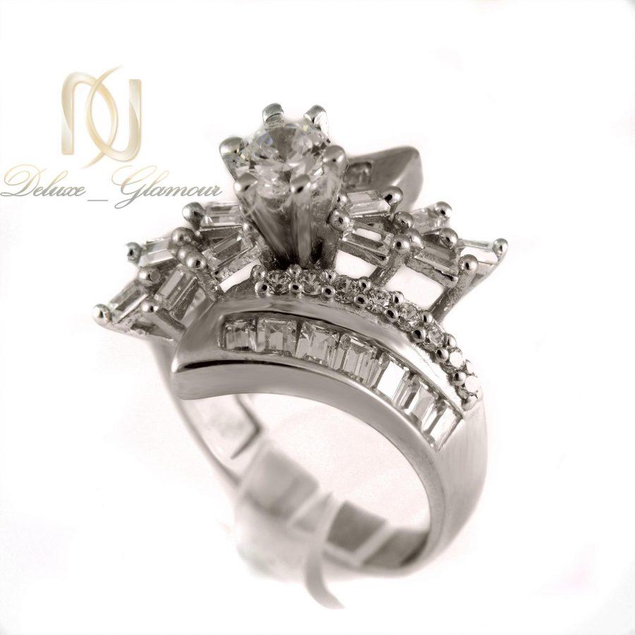 انگشتر نقره زنانه طرح تک نگین rg-n268 از نمای روبرو