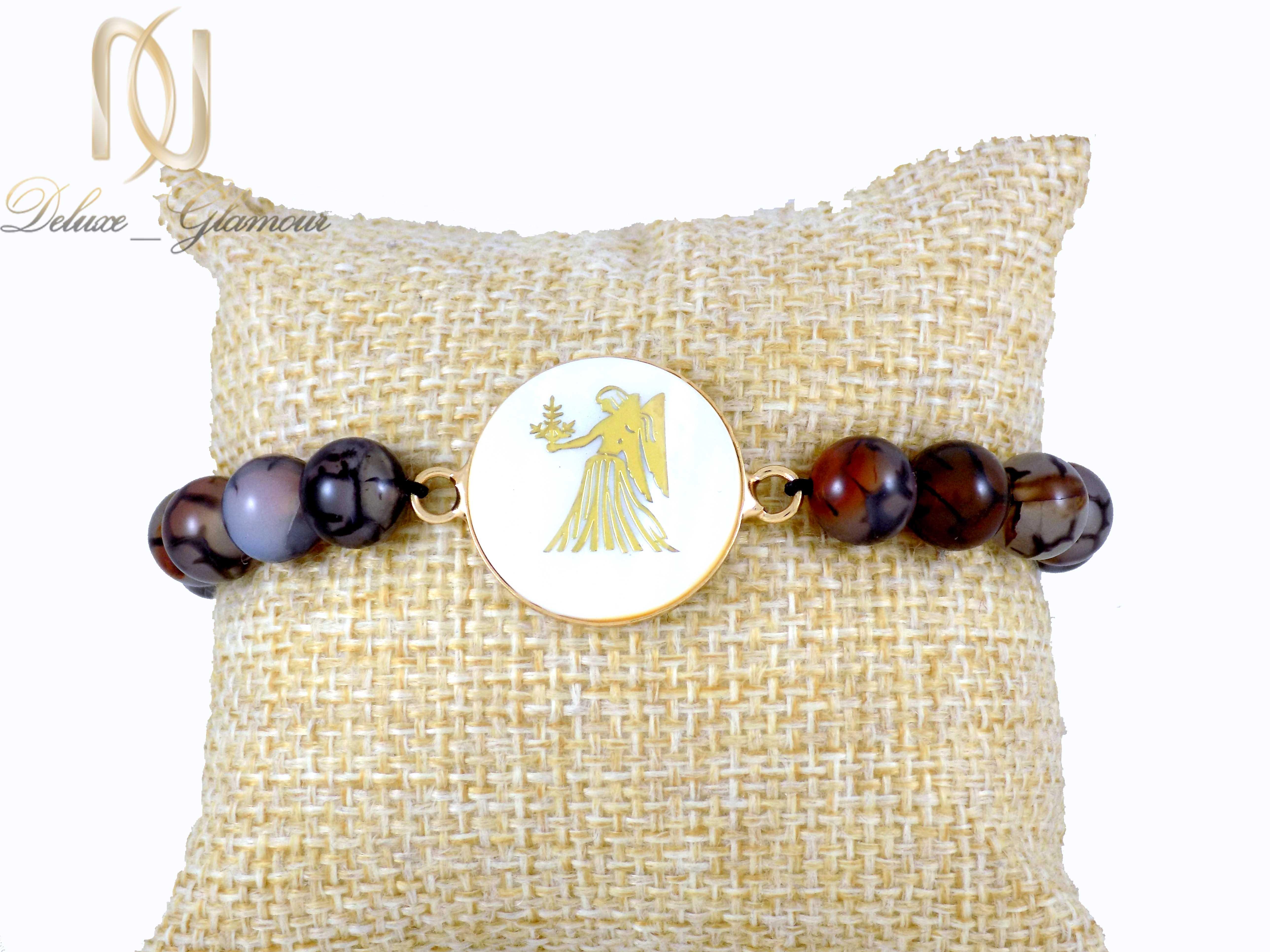 دستبند دخترانه سنگ ماه تولد شهریور ds-n337 از نمای روبرو
