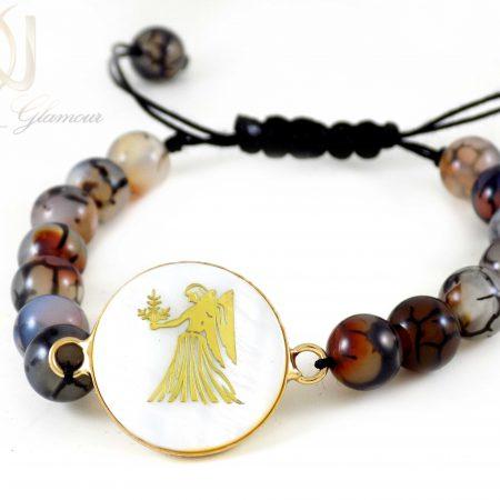 دستبند دخترانه سنگ ماه تولد شهریور ds-n337 از نمای پایین