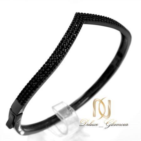 دستبند دخترانه قفلی طرح جدید مشکی DS-N346 از نمای کنار