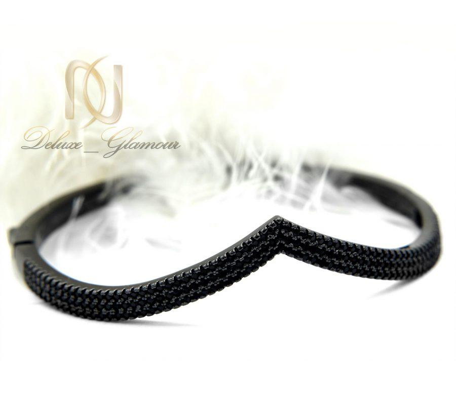 دستبند دخترانه قفلی طرح جدید مشکی DS-N346 از نمای پایین