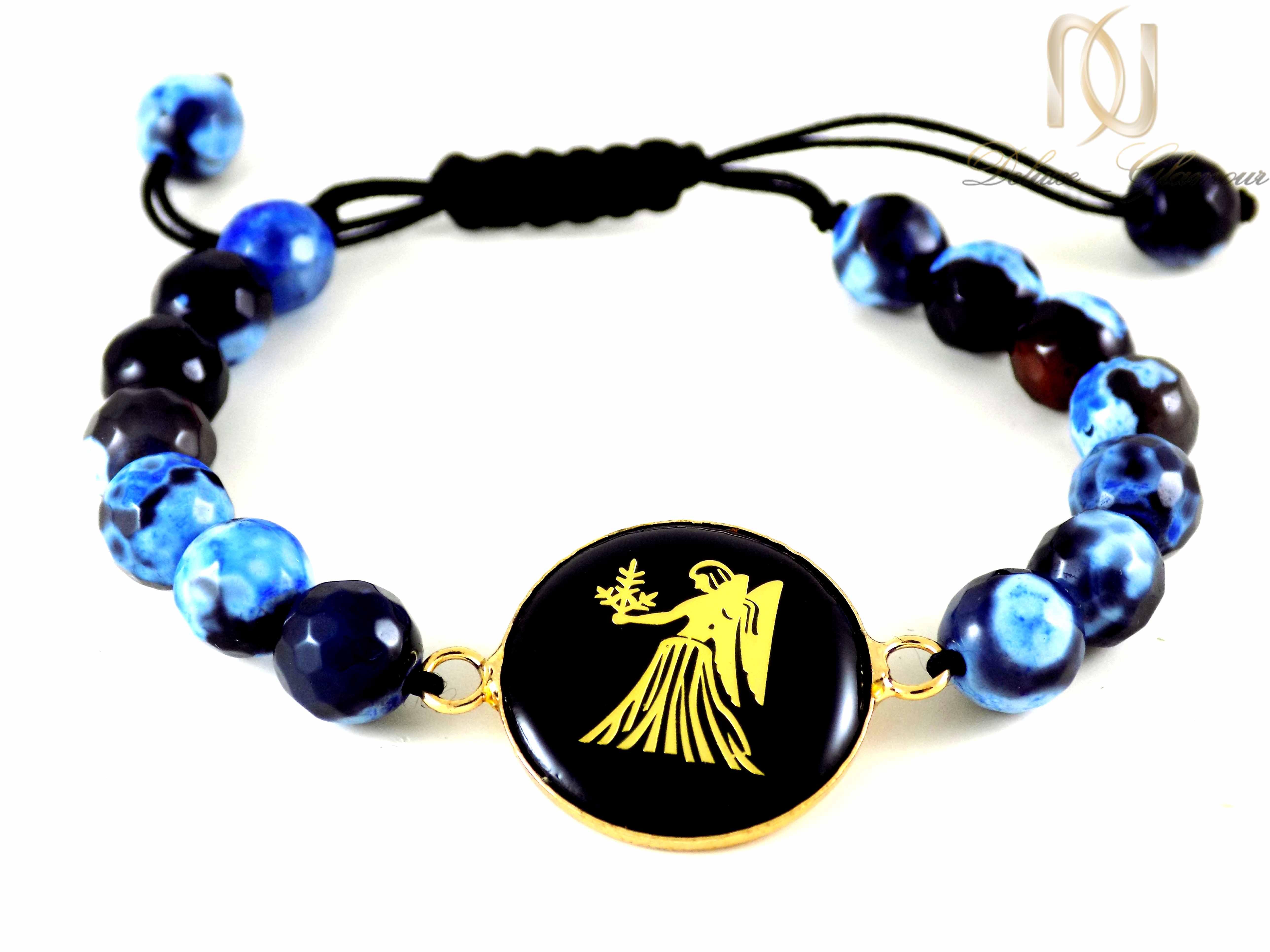 دستبند سنگ و نماد ماه تولد شهریور ds-n340 از نمای پایین