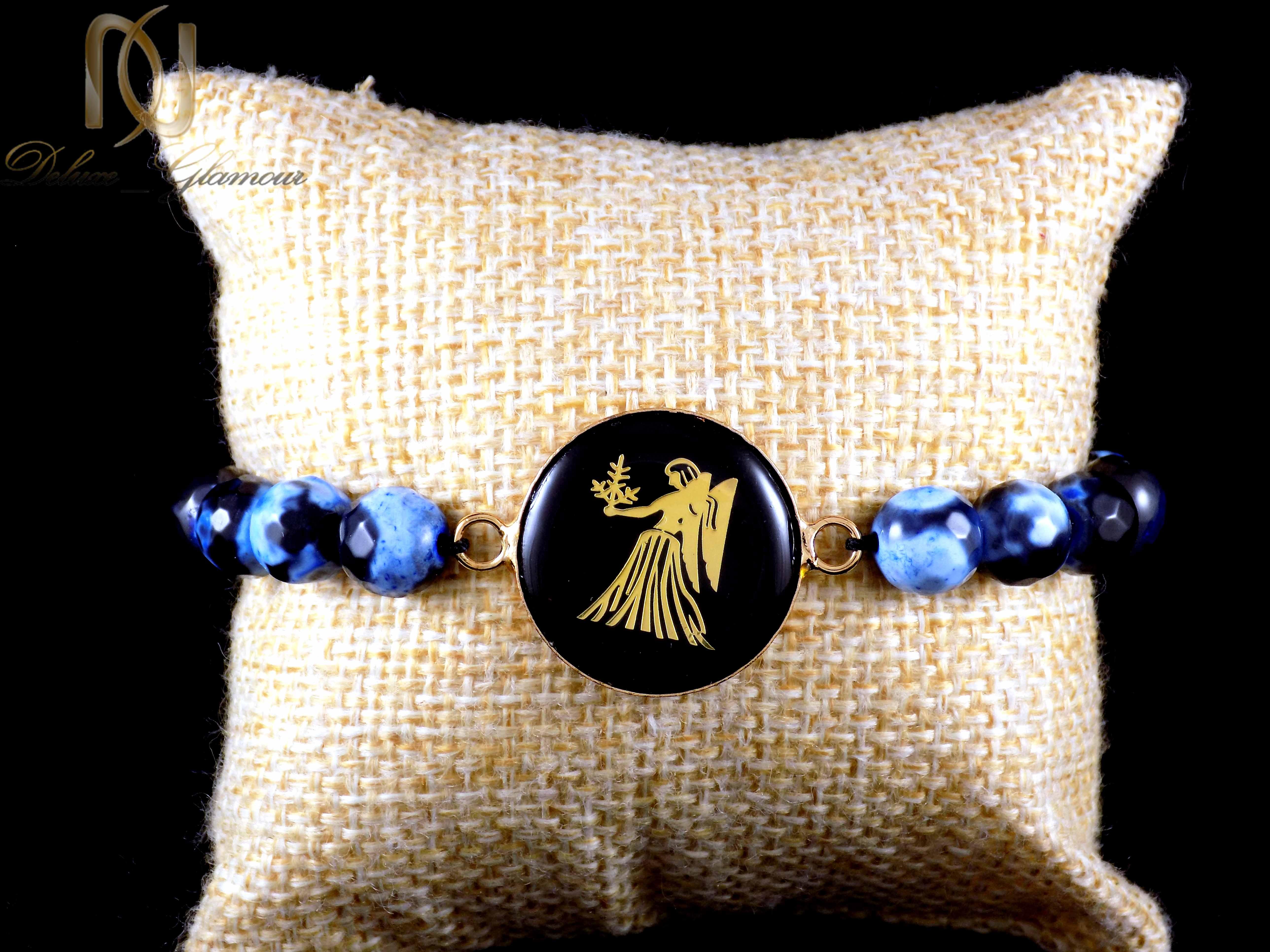 دستبند سنگ و نماد ماه تولد شهریور ds-n340 از نمای نزدیک