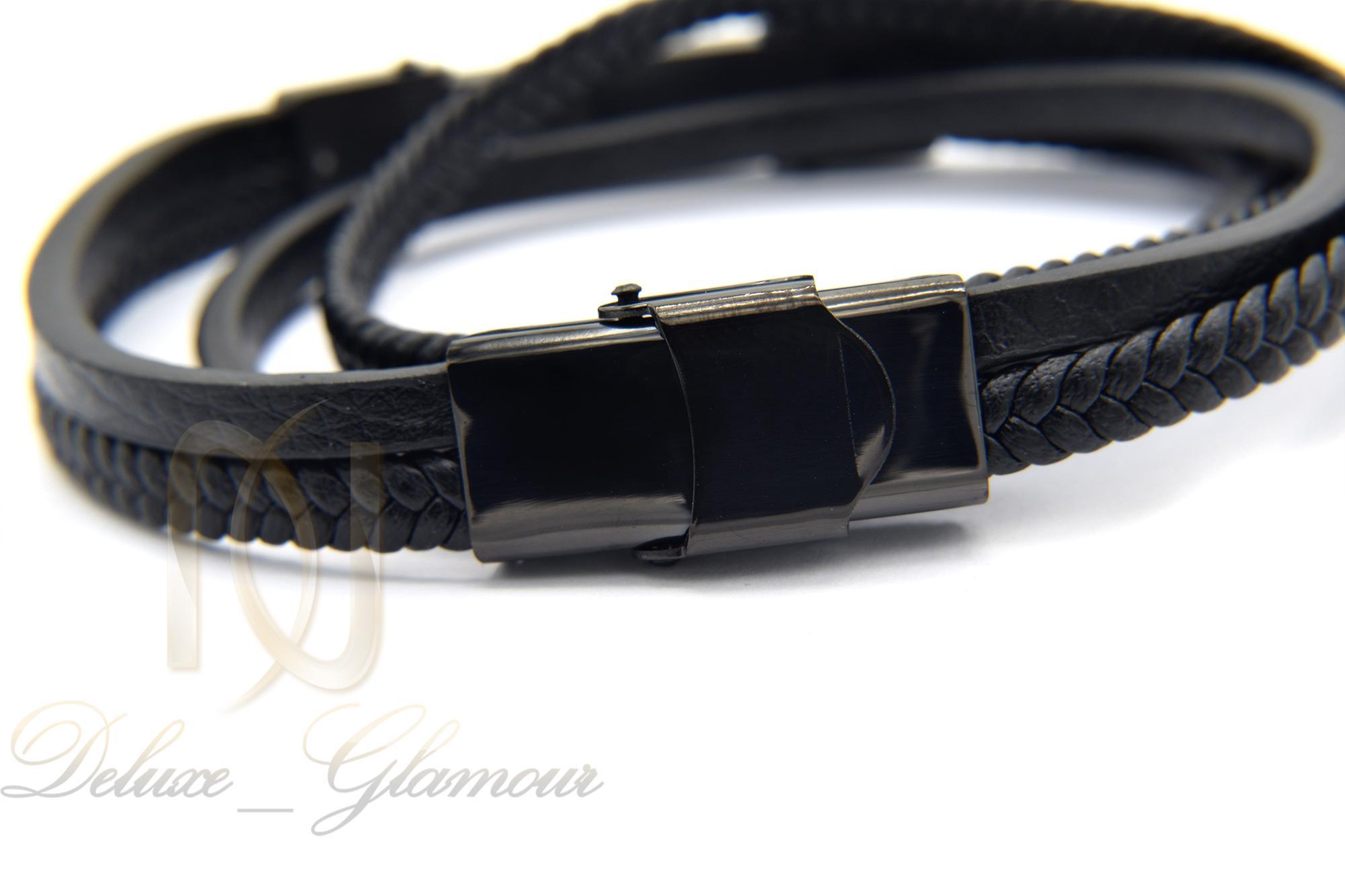 دستبند مردانه چرم اسپرت طرح کارتیه ds-n356
