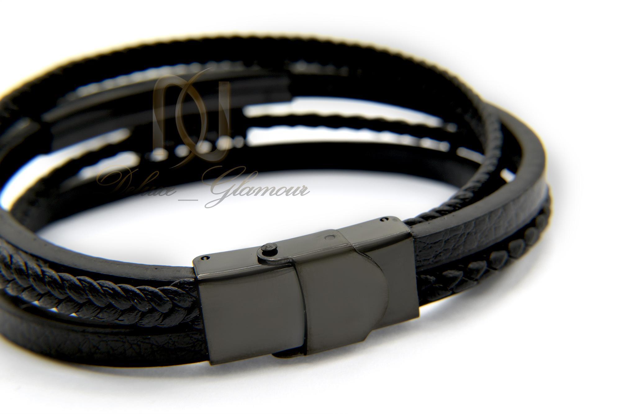 دستبند مردانه چرم چهار ردیفه ویتالی DS-N343 (3)