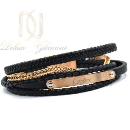 دستبند پسرانه چرمی طرح کارتیه ds-n358