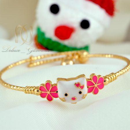دستبند کودکانه طرح کیتی صورتی ds-n339 از نمای سفید