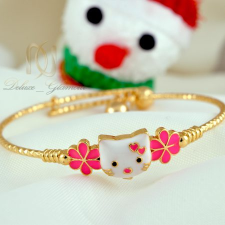 دستبند کودکانه طرح کیتی صورتی ds-n339