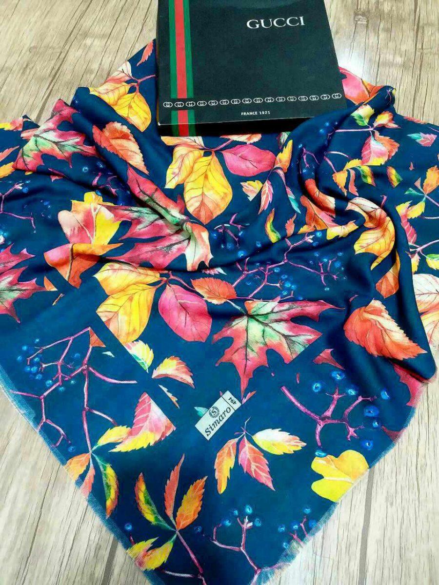 روسری قواره بزرگ نخی sr-n 210 از نمای نزدیک