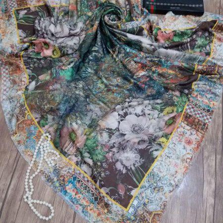روسری نخی قواره بزرگ جدید sr-n 220 از نمای نزدیک