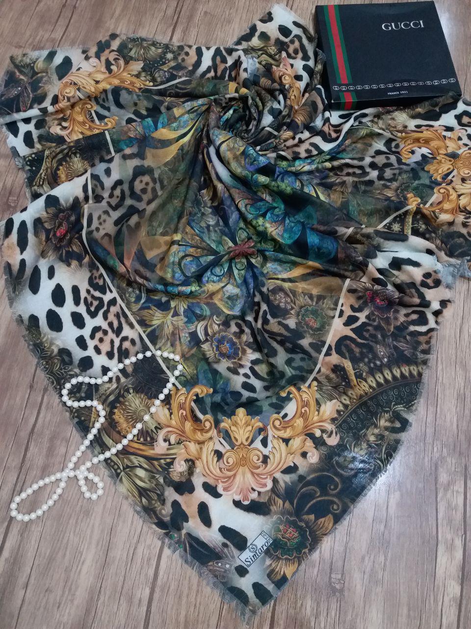 روسری نخی قواره بزرگ ساده sr-n221