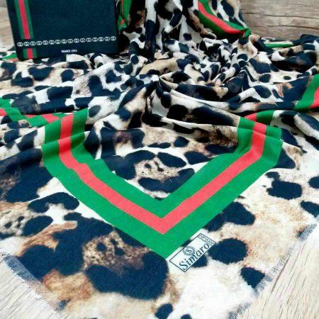 روسری نخی قواره بزرگ پاییزه sr-n 207 از نمای نزدیک