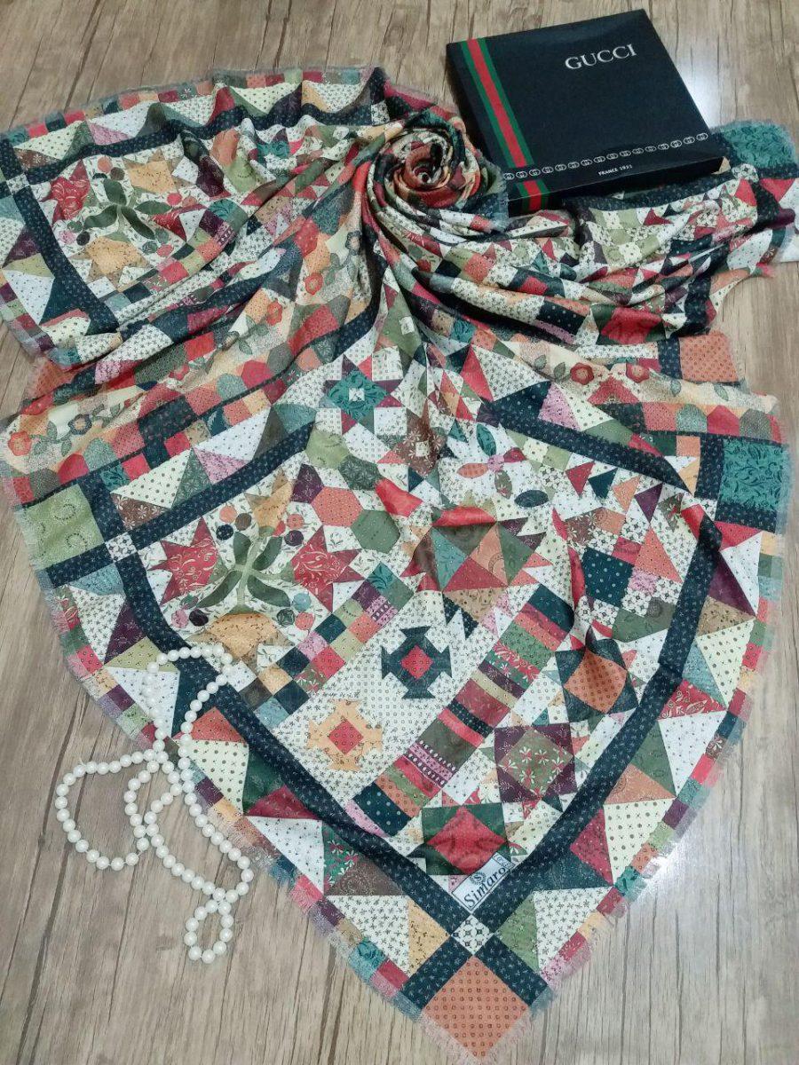 روسری نخی قواره بزرگ sr-n 215 از نمای نزدیک