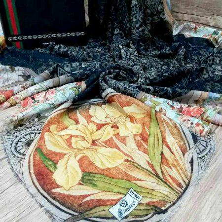 روسری نخی پاییزه پایین ریشه سوزنی sr-n 197 از نمای نزدیک
