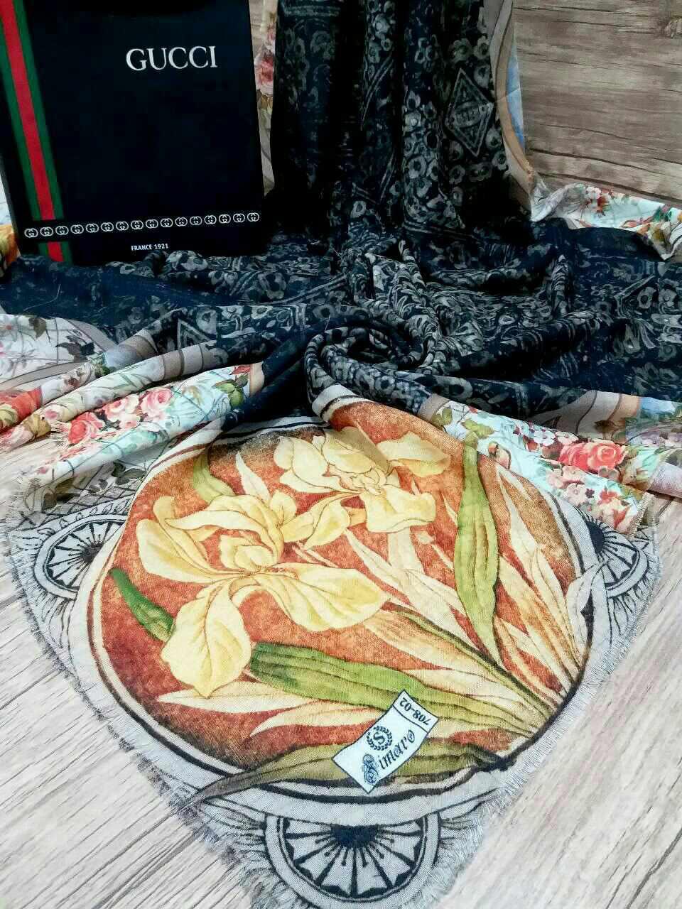 روسری نخی پاییزه پایین ریشه سوزنی sr-n 197