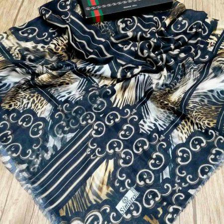روسری نخی پاییزه پایین ریشه سوزنی sr-n 211 از نمای نزدیک