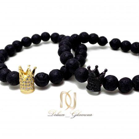 ست دستبند دخترانه و پسرانه طرح تاج Ds-n330 - عکس اصلی