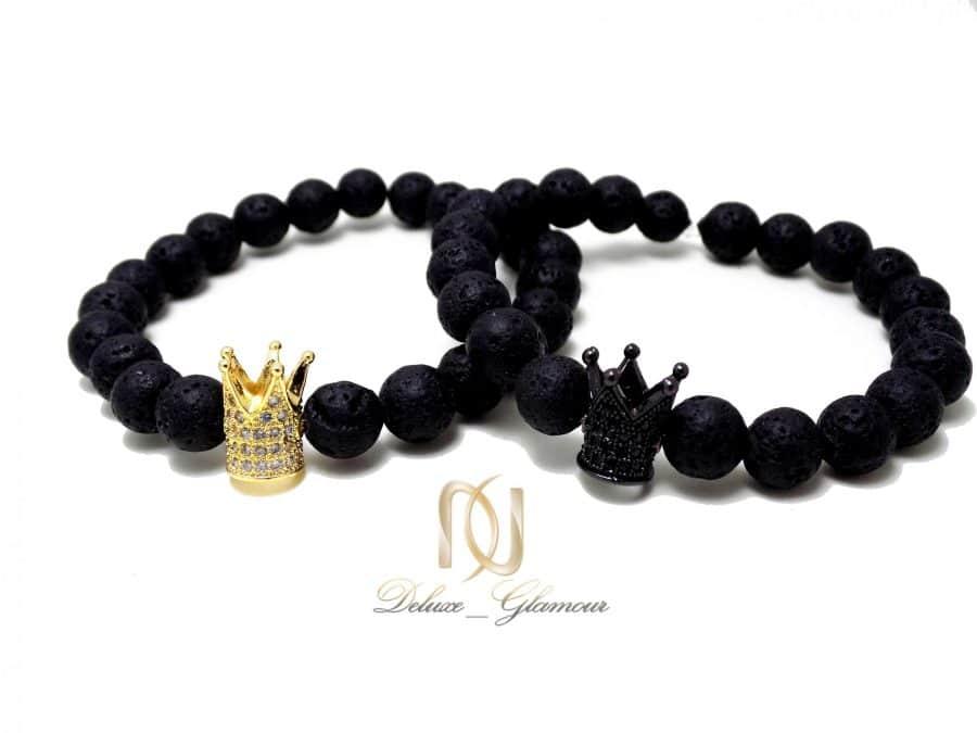 ست دستبند دخترانه و پسرانه طرح تاج Ds-n330