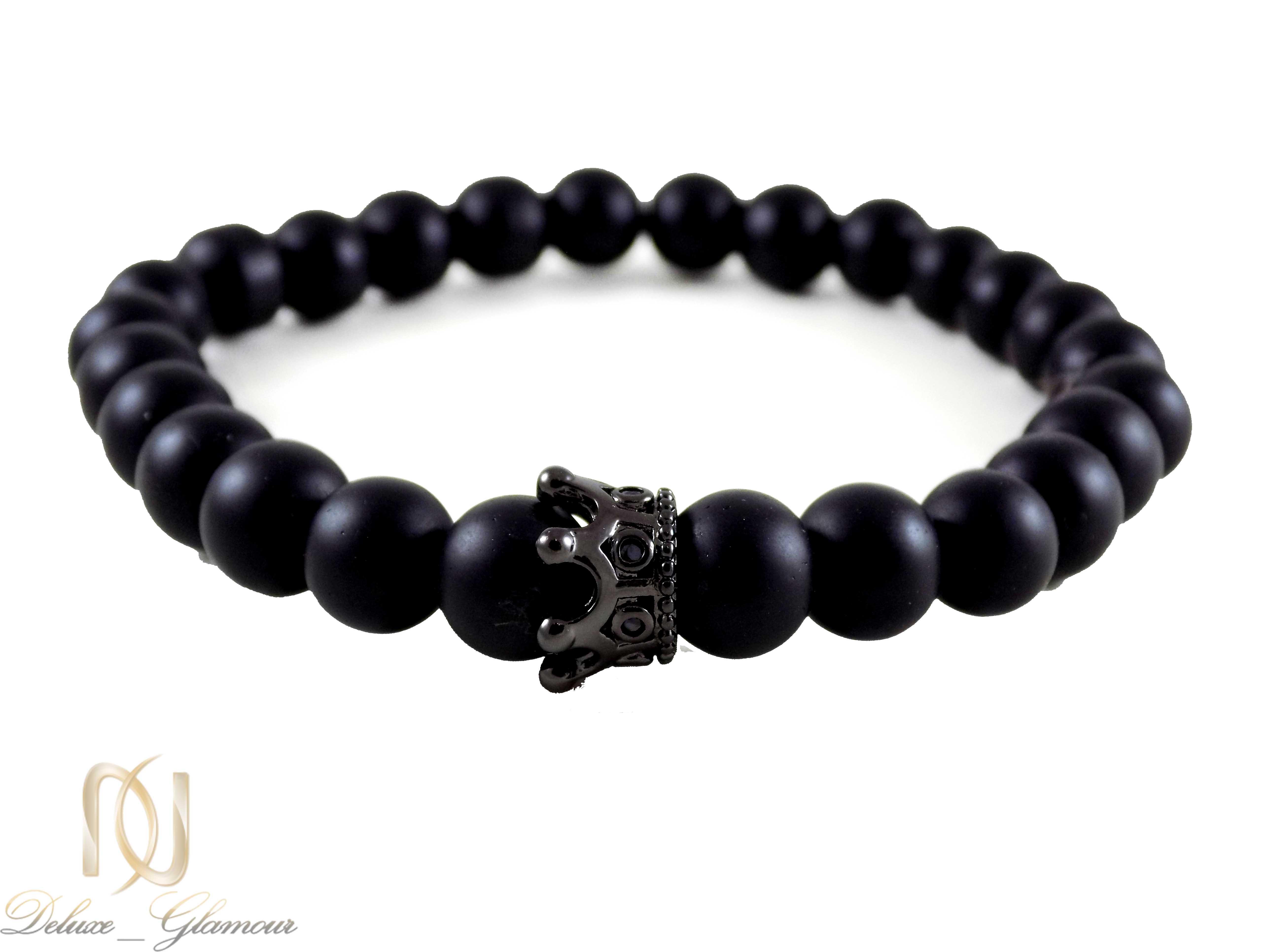 ست دستبند دخترانه و پسرانه طرح تاج Ds-n332 - تاج مشکی